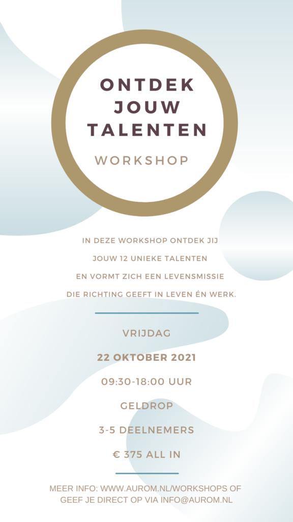 Geef je op voor 22 oktober 2021 - de workshop Het Talentenspel in één dag